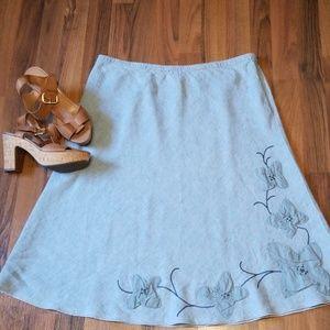 {J. Jill} Linen Skirt
